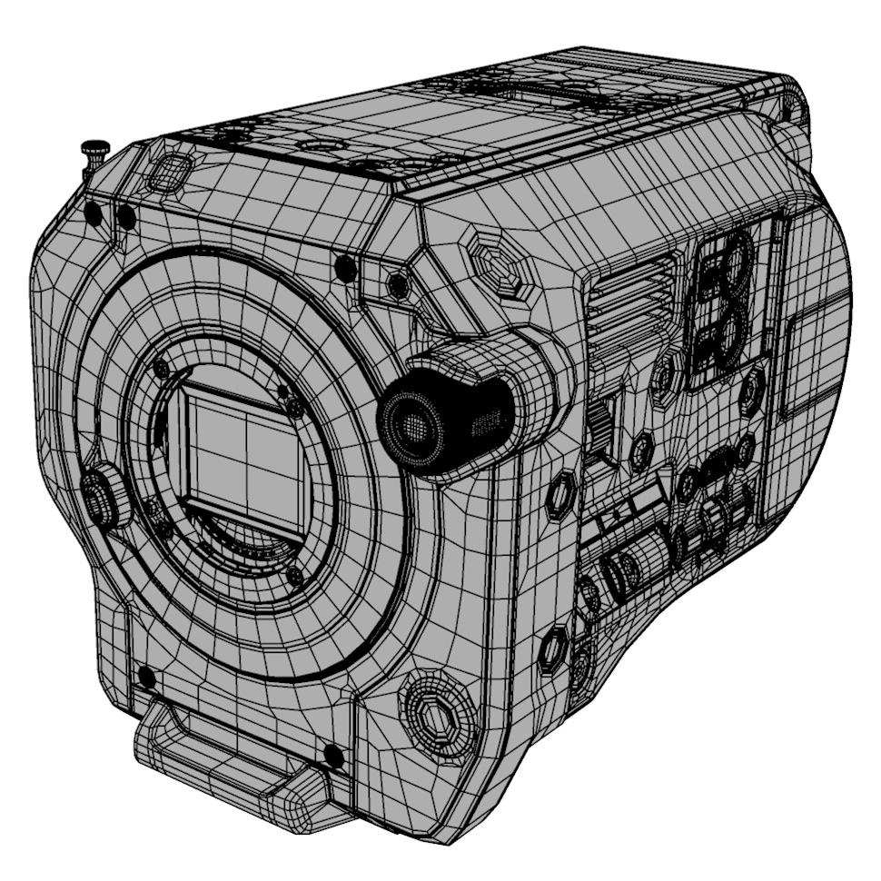 Sony FS7 wireframe